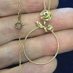 14k charm holder necklace
